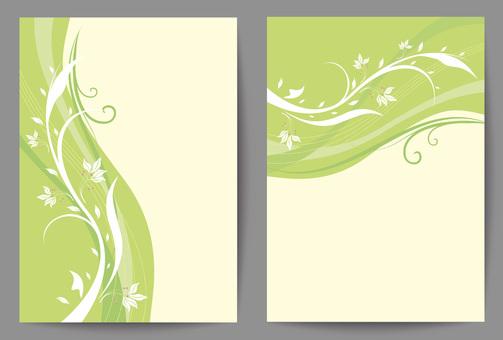 Background design / flower pattern material 2