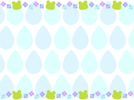 Hydrangea and frog background