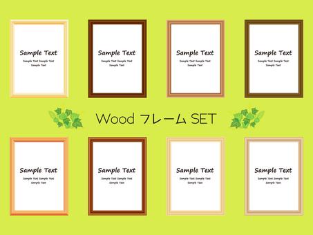 Wood grain frame set