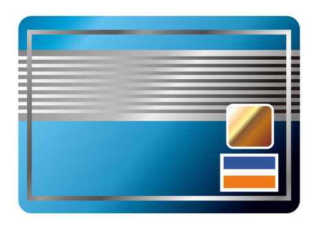 Candle card image blue