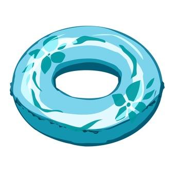 Floating ring blue