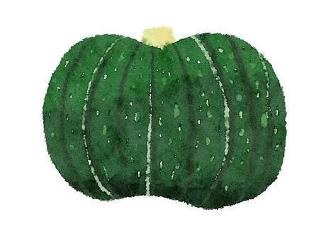 Watercolor food series pumpkin