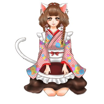 Cat serving different version red