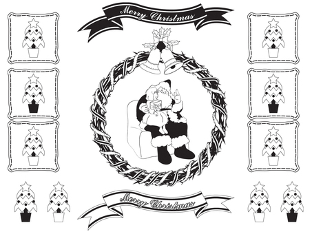Santa Clan _ Black and White