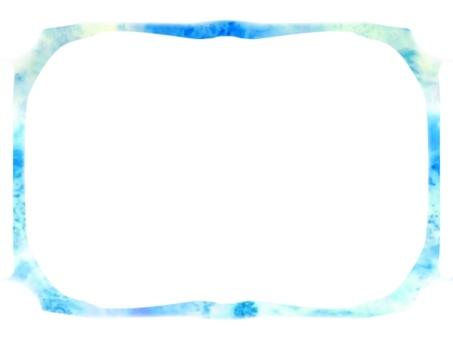 Light blue and blue sparkling frame