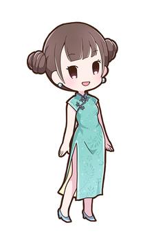 차이나 드레스 여성 02_A
