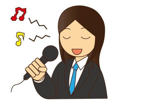 노래방에서 노래 음치 여성