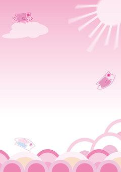 잉어 프레임 (핑크 계열)