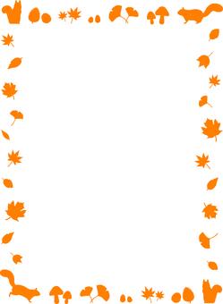 Autumn motif frame 1