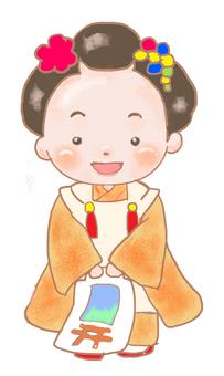 Shichigosan 3-year-old girl
