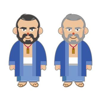 Men wearing kimonos