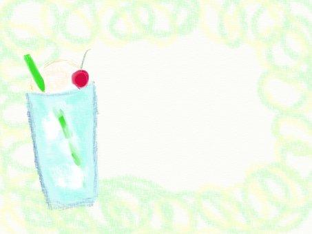 クリームソーダのフレーム