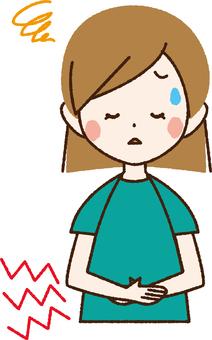 A stomachache woman _NB 19