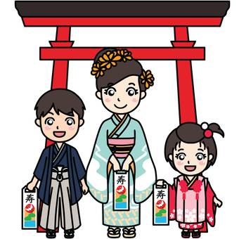 Shichigosan-Children in Kimono