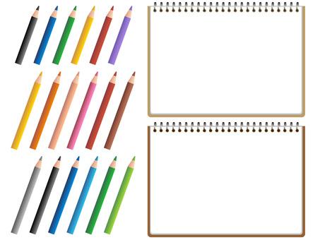 60825. Sketchbook, color pencil 1