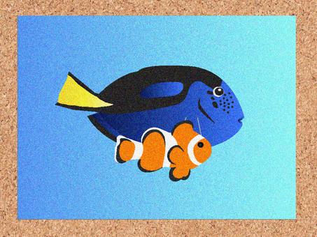 時尚刺繡風格熱帶魚卡4