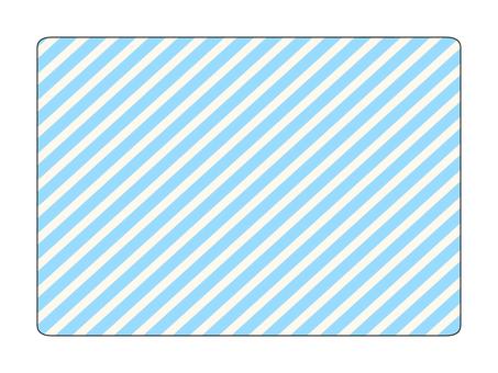 Blue striped plate