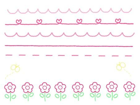 Hand drawn style line