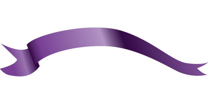 Personal ribbon purple