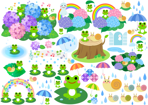 Rainy season image material 120