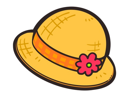 Illustration material of straw hat