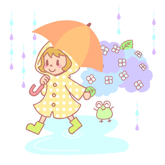 Girl on a rainy day
