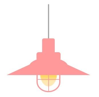 吊燈粉色2