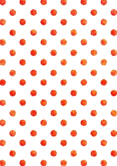 Watercolor dot polka dots texture · red vertical