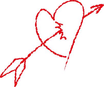 An arrowed heart (red)
