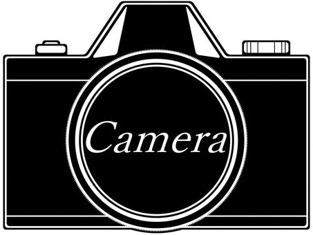 Silhouette-style SLR camera
