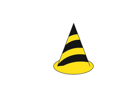 Color cone black yellow