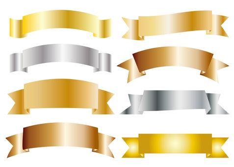 Speech balloon 18_04 (ribbon · gold and silver)