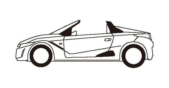 Light car (line drawing) sports car