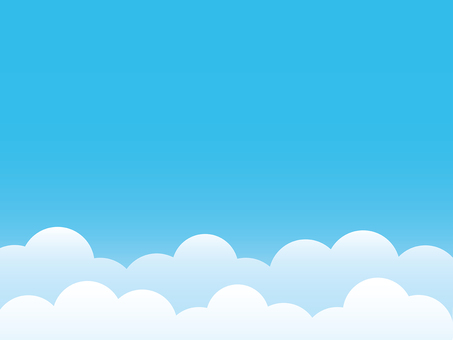 Blue sky and cloud background material
