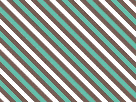 Stripe ● Dark Brown × Emerald
