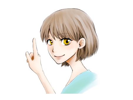 卡通風格的女孩
