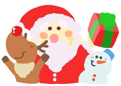 Santo and reindeer and Yukidaruma