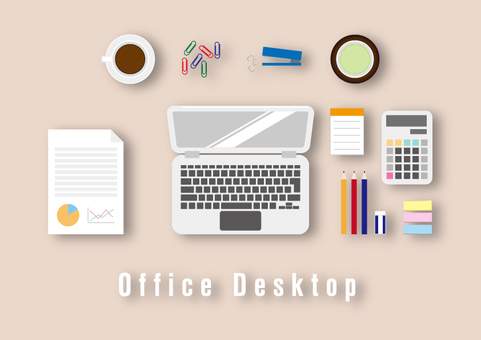 Office desk material collection