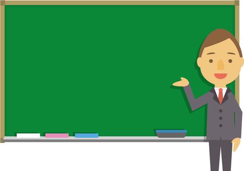 老師說話和黑板