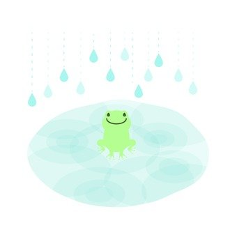 Puddle and frog