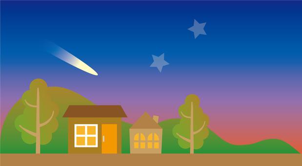Evening comet