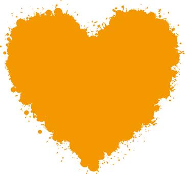 Heart _ 雫 _ orange