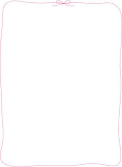 Bow Framed Pink
