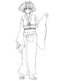 Kashima Maohime 4, Okae (line drawing)