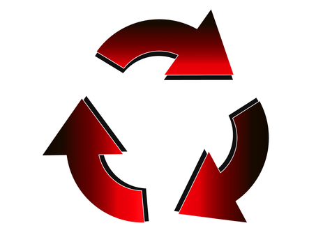 Red recycle mark