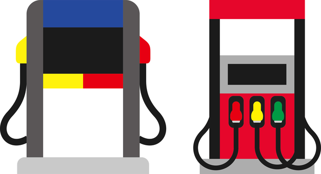 Gas station refueling machine icon
