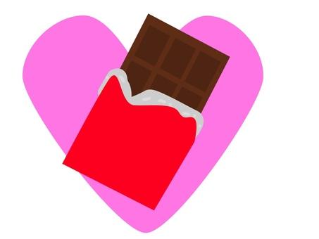 ハートと板チョコ バレンタイン