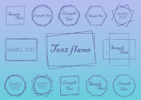 Fashionable text frame