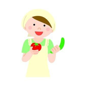 요리하는 여자 1
