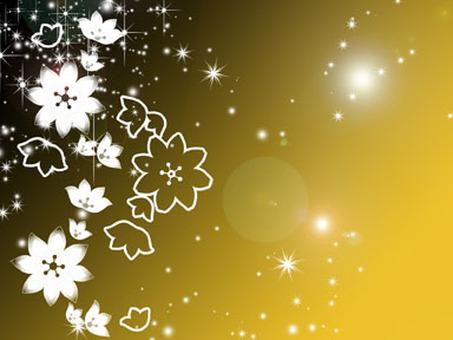Sparkly flower postcard
